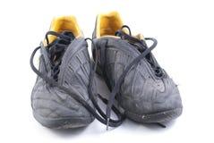 черные старые ботинки 2 Стоковые Фото
