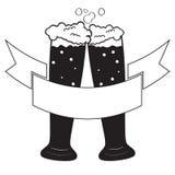 Черные стекла пива Стоковые Фото