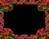 черные тесемки рождества граници Стоковая Фотография