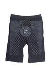 черные уменьшая брюки для уменьшения целлюлита изолированного на белизне стоковое фото rf
