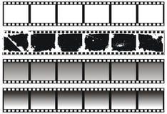черные установленные filmstrips белыми Стоковое фото RF