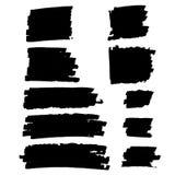Черные установленные пятна краски Стоковые Изображения RF