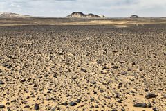 черные утесы пустыни Стоковые Фотографии RF