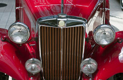 черные фары классики автомобиля Стоковые Фотографии RF