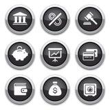 черные финансы кнопок иллюстрация штока