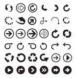 Черные формы стрелки стоковые изображения rf