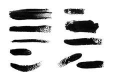 Черные ходы изолированной кисти Стоковое фото RF