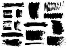 черные ходы щетки Стоковая Фотография RF