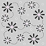 черные цветки Стоковое Изображение RF