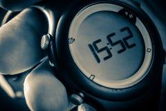 Черные цифровые наручные часы Стоковая Фотография