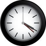 черные часы иллюстрация вектора