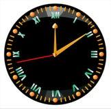 черные часы Стоковое Фото