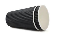 Черные чашки гофрированной бумаги Стоковая Фотография