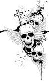 черные черепа белые Стоковая Фотография