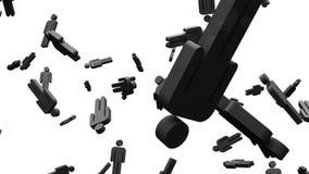 Черные человеческие форменные объекты на белой предпосылке бесплатная иллюстрация