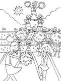 черные чирлидеры белые Стоковое Фото