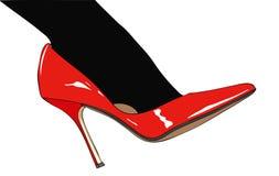 Черные чулки и красные ботинки бесплатная иллюстрация