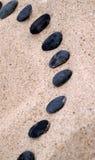 черные шагая камни Стоковое фото RF