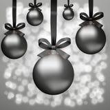 Черные шарики пятницы стеклянные Стоковое Фото