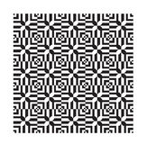 Черные этнические современные геометрические безшовные ornamen картины Стоковое Изображение