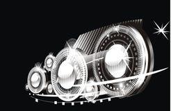 черные яркие вспышки Стоковое Фото