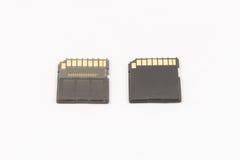 Черные unbranded карточки SD памяти Стоковые Фотографии RF