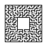 Черный абстрактный квадратный лабиринт с местом для вашего изображения Интересная и полезная игра для детей Простая плоская иллюс иллюстрация вектора