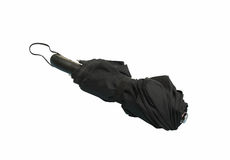 Черный автоматический зонтик закрыл Стоковое Изображение