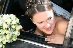 черный автомобиль невесты Стоковое Изображение