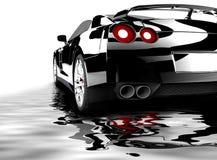 Черный автомобиль отразил иллюстрация вектора