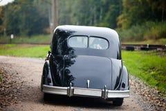 Черный автомобиль сбора винограда Стоковое Изображение RF