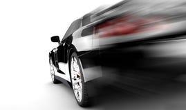 Черный автомобиль скорости иллюстрация вектора