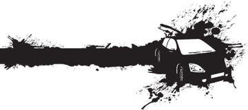 черный автомобиль Стоковое Изображение