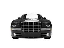 черный автомобиль view3 изолированное фронтом Стоковая Фотография