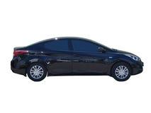 Черный автомобиль изолированный на белизне Стоковая Фотография RF