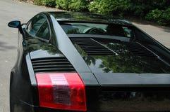 Черный автомобиль спорт murcielago lamborghini Стоковое фото RF