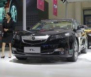 Черный автомобиль tl acura Стоковое Изображение RF