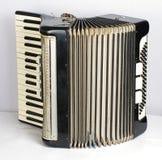 Черный аккордеон стоковое изображение rf