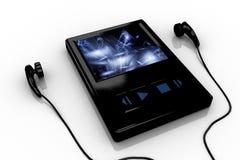 черный аудиоплейер 4 Стоковые Изображения RF