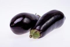 Черный баклажан изолированный на белой предпосылке Стоковые Изображения RF