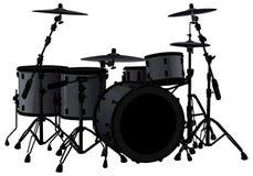 черный барабанчик иллюстрация вектора