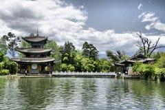Черный бассейн дракона в Lijang Стоковое фото RF