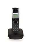 черный бесшнуровой телефон Стоковые Фотографии RF