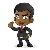 Черный бизнесмен давая большой палец руки вверх Стоковое Фото