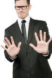 черный бизнесмен делая костюм Стоковое фото RF