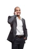Черный бизнесмен стоковая фотография rf
