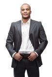 черный бизнесмен Стоковая Фотография