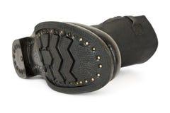 черный бой ботинок Стоковые Фотографии RF