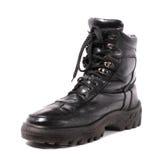 черный ботинок глянцеватый Стоковые Фотографии RF