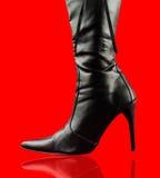 черный ботинок сексуальный Стоковые Фото